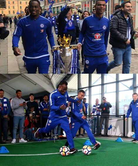 Chelsea-Legends-Essien-And-Cole-Wow-Fans-in-New-York