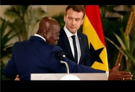 Ghanaian-President-Embarrasses-French-President-Macron-With-Shocking-Speech